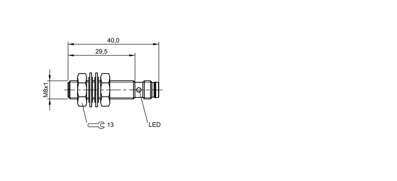 m8x1 bes00ck Balluff m08ee-psc20b-s49g-003 elfo-sensor interruptor n.a