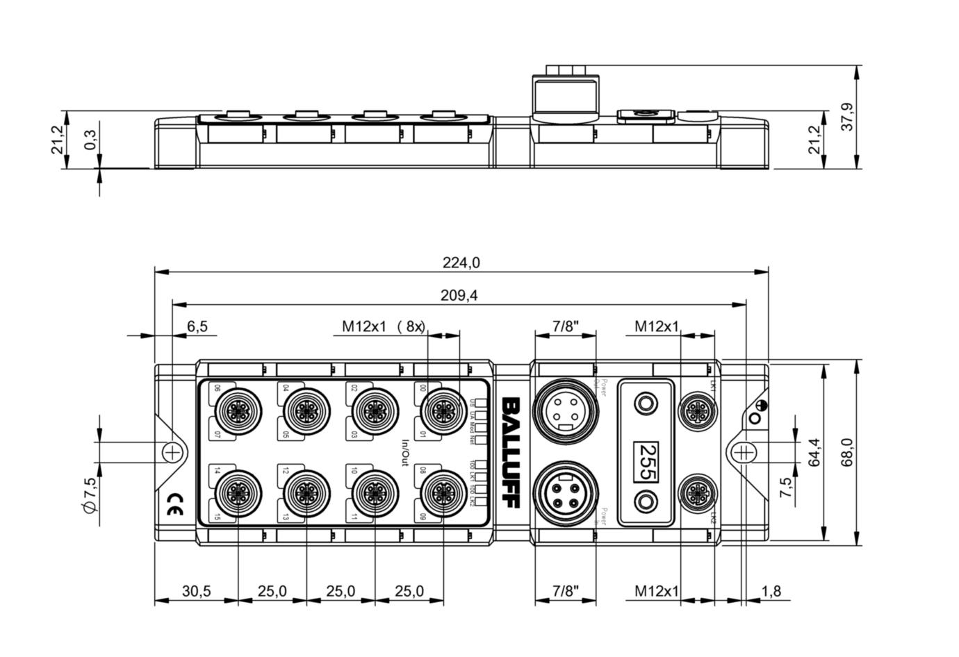 BNI004F - BNI EIP-302-105-Z015 - Balluff
