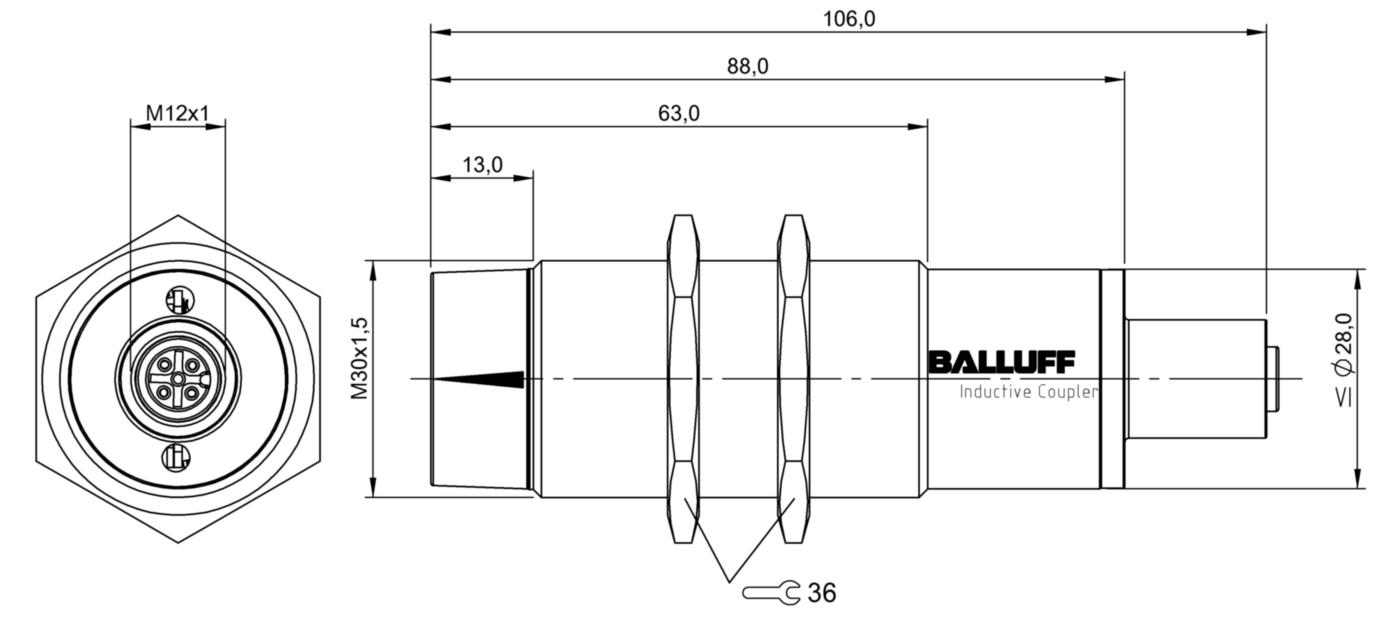 BIC0054 - BIC 2I0-IAA50-M30MI3-SM4A5A - Balluff on