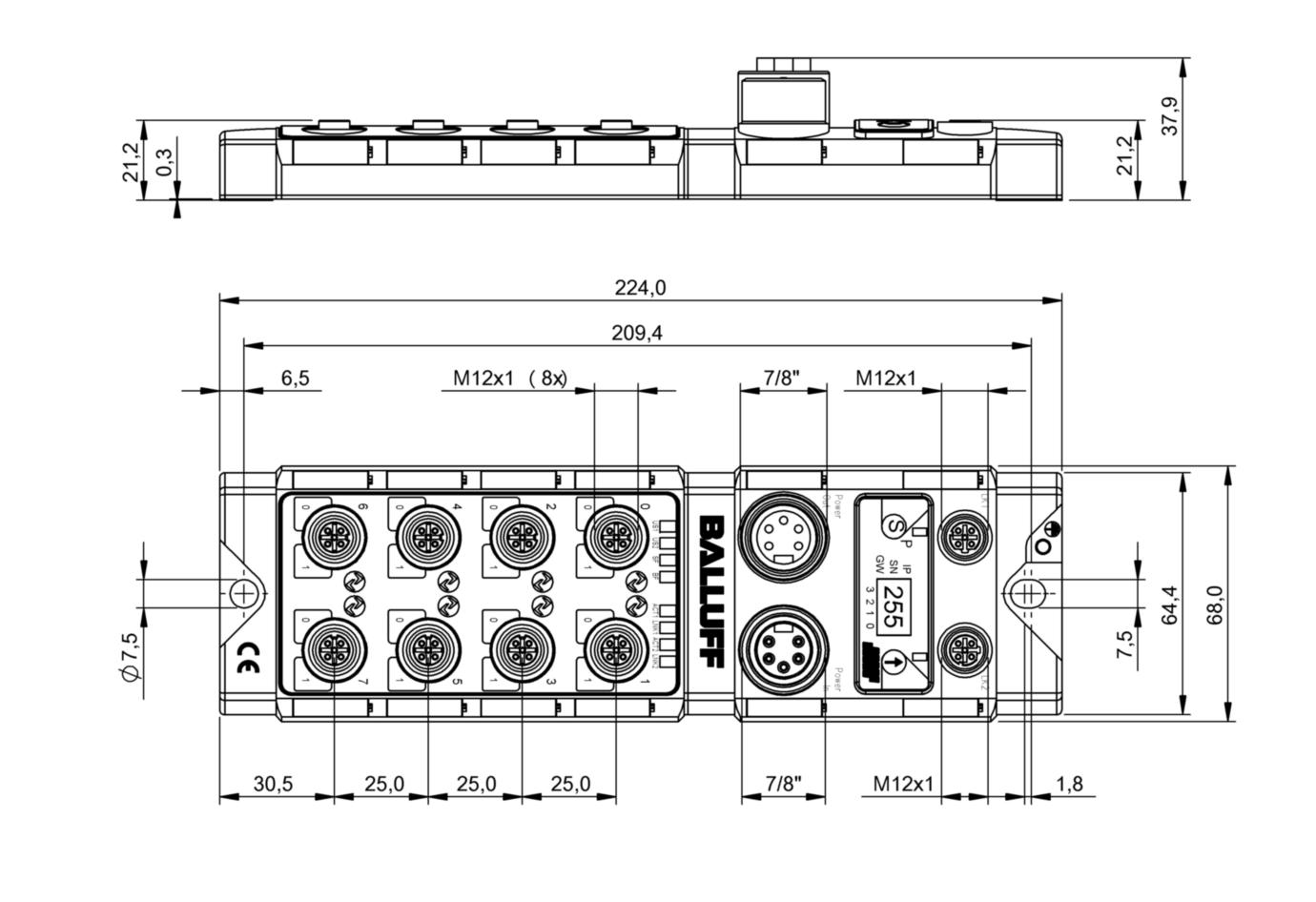 BNI005H - BNI PNT-508-105-Z015 - Balluff